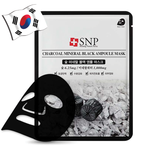 SNP Charcoal Mineral Black Ampoule Mask - Yes! You Beauty