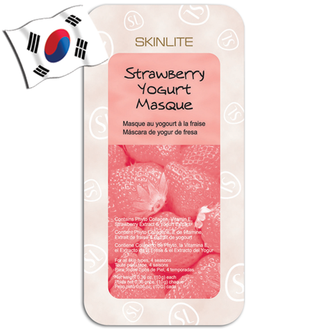 SKINLITE Strawberry Yogurt Wash-off Face Mask - Yes! You Beauty