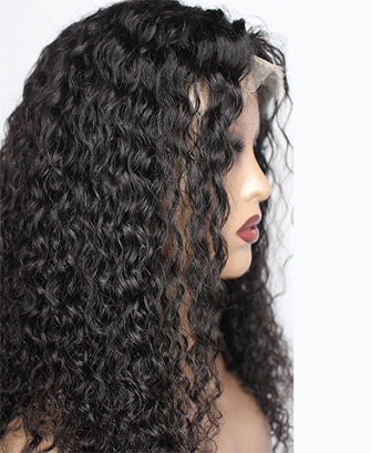 Natural Curly Human Hair Wig 180% Density