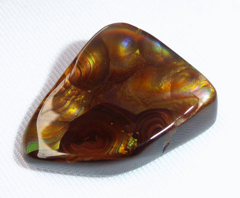 Fire Agate Carbochon Polished Gemstone Mexico