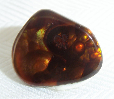 Fire Agate Carbochon Gemstone Mexico