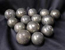 30mm Pyrite Fool's Gold Polished Crystal Sphere Mineral Stone