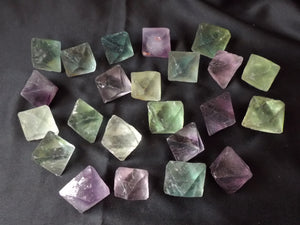 Natural Raw Fluorite Octahedron Crystal Energy Healing Stone (Green Purple Yellow White) FLR10157