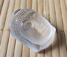 Clear Quartz Buddha Head Crystal Amulet Pendant