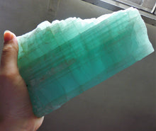 Large Aquamarine Mineral Specimen Crystal Stone with Display Wood Stand - AQ10106