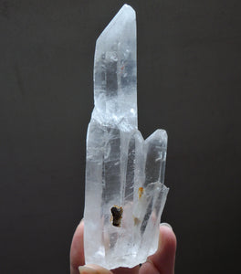 Lemurian Quartz Terminated Crystal Point Wand Cluster Mineral Specimen - LEM10119