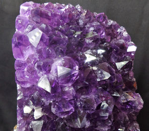 Top Uruguay Amethyst Crystal Geode Specimen W/ Display Stand
