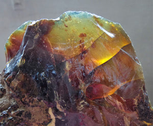 Top Large Raw Indonesia Blue Red Amber Crystal Stone - AMB10218
