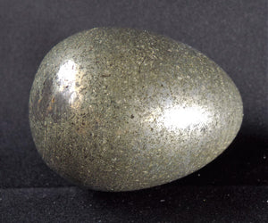 Small Pyrite Fool's Gold Polished Crystal Egg Mineral Stone