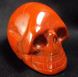 Red Jasper Stone Crystal Skull Hand Carved Sculpture