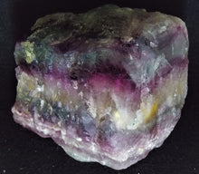 Large Raw Layered Rainbow Fluorite Stone Crystals Mineral Specimen FLR10146