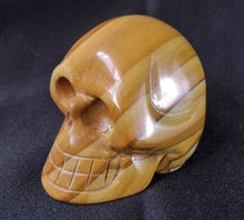 Brown Wood Jasper Stone Crystal Skull Hand Carved Sculpture JAS10127