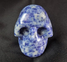 Blue Sodalite Stone Crystal Skull Hand Carved Sculpture SOD10103