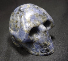 Blue Sodalite Stone Crystal Skull Hand Carved Sculpture SOD10104