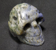 Blue Sodalite Stone Crystal Skull Hand Carved Sculpture SOD10105