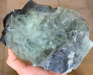 Large Perfect Glassy Gemmy Green Fluorite Cube Ladder Crystals Mineral Specimen FLR10181