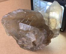Large Clear Rutilated Smoky Quartz Crystal Terminated Point Cluster Mineral Specimen Stone Decor
