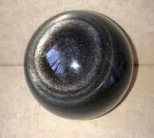 Silver Sheen Obsidian Crystal Spheres - Various Sizes from 50mm to 113mm