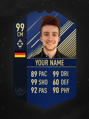Custom 10 X 12 Fut Card print with background