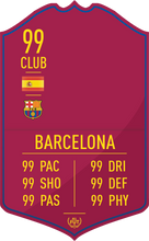 Barcelona Pre Made Player Card