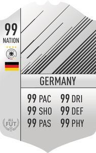 Germany Pre Made Player Card