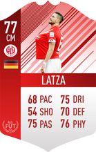 Mainz Pre Made Player Card