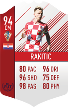 Croatia Pre Made Player Card