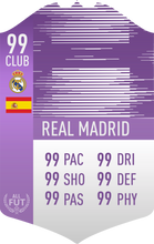 Real Madrid Pre Made Player Card
