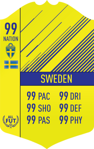 Sweden Pre Made Player Card