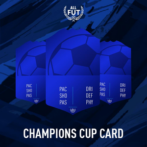 New Season A3/ A4 Custom Champions Cup Card