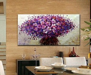 Painting of Flower, Wall Pictures For Living Room ,canvas Painting  Hand Painted palette knife 3D texture for home decor