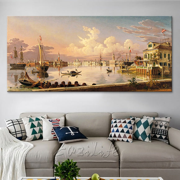 Venice oil painting Italian landscape oil painting on canvas museum Quality handmade Reproduction Robert-Salmon-View-of-Venice
