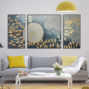 Hand painted canvas oil paintings Wall art Pictures for living room modern abstract decorative 3