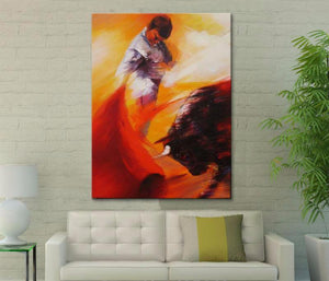 The Matador Hand-painted canvas painting pictures on the wall painting canvas sitting room wall art canvas the bulls wallpaper 1