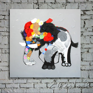 Oil painting On Canvas Wall Pictures Paintings For Living Room Wall Art Canvas Pop art Elephant modern abstract hand painted 4