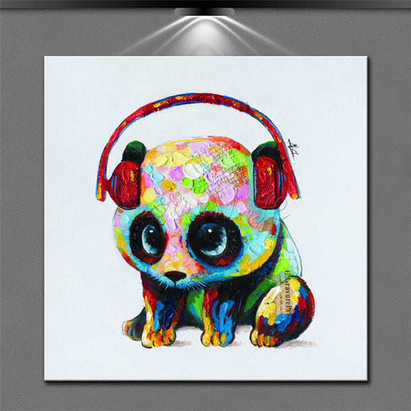 Dog painting,Modern abstract hand-painted oil painting the sitting room adornment animal panda