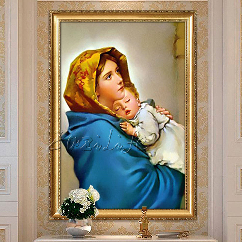 Poster and print of Jesus Christ Virgin Mary Holding baby,Christmas decorations for home,wall pictures for living room home deco