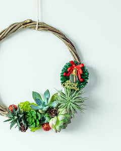 Christmas succulent wreath workshop