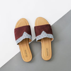 Shelley Sandal in Wine Leather