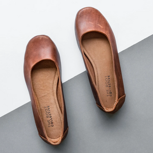 Gaby Flat In Solid Chestnut