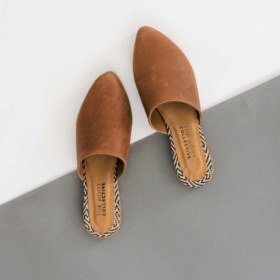 Lili Mule in Chestnut Leather