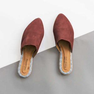 Lili Mule in Wine Leather
