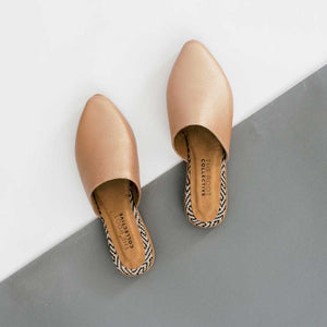 Lili Mule in Rose Gold Leather