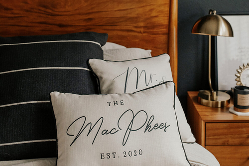 Est. Name  - Personalized Pillow