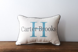 Initial Blue Name - Personalized Pillow