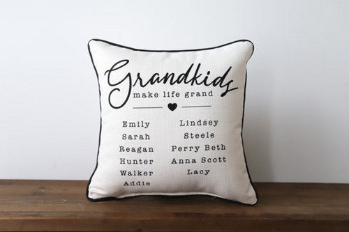 Grandkids Name  - Personalized Pillow