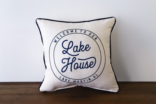 Lake House Name  - Personalized Pillow