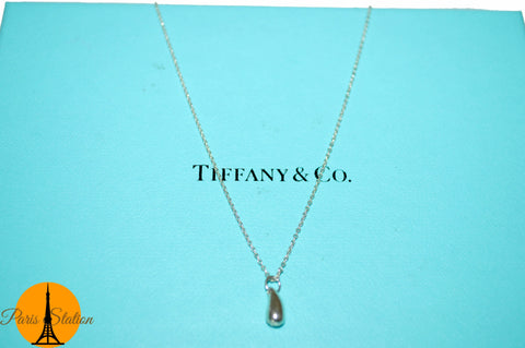 Tiffany & Co. Tear Drop Sterling Silver  Necklace
