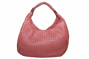New Bottega Veneta Pink Nappa Intrecciato Medium Campana Shoulder Bag