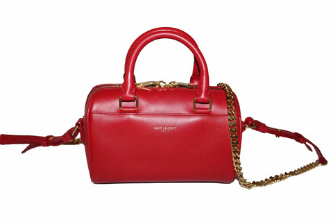 Yves Saint Laurent YSL Red Duffel Toy Hand/Crossbody Bag